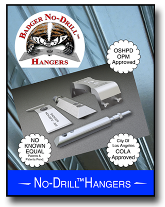 Download No Drill Metal Deck Hanger Specification Sheets